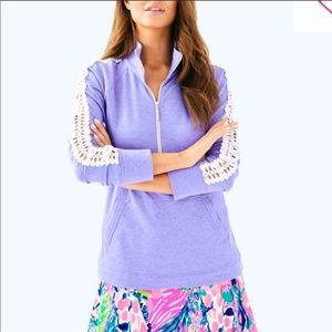 Lilly Pulitzer periwinkle purple popover sz M NWT